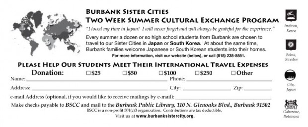 Sister City donate form